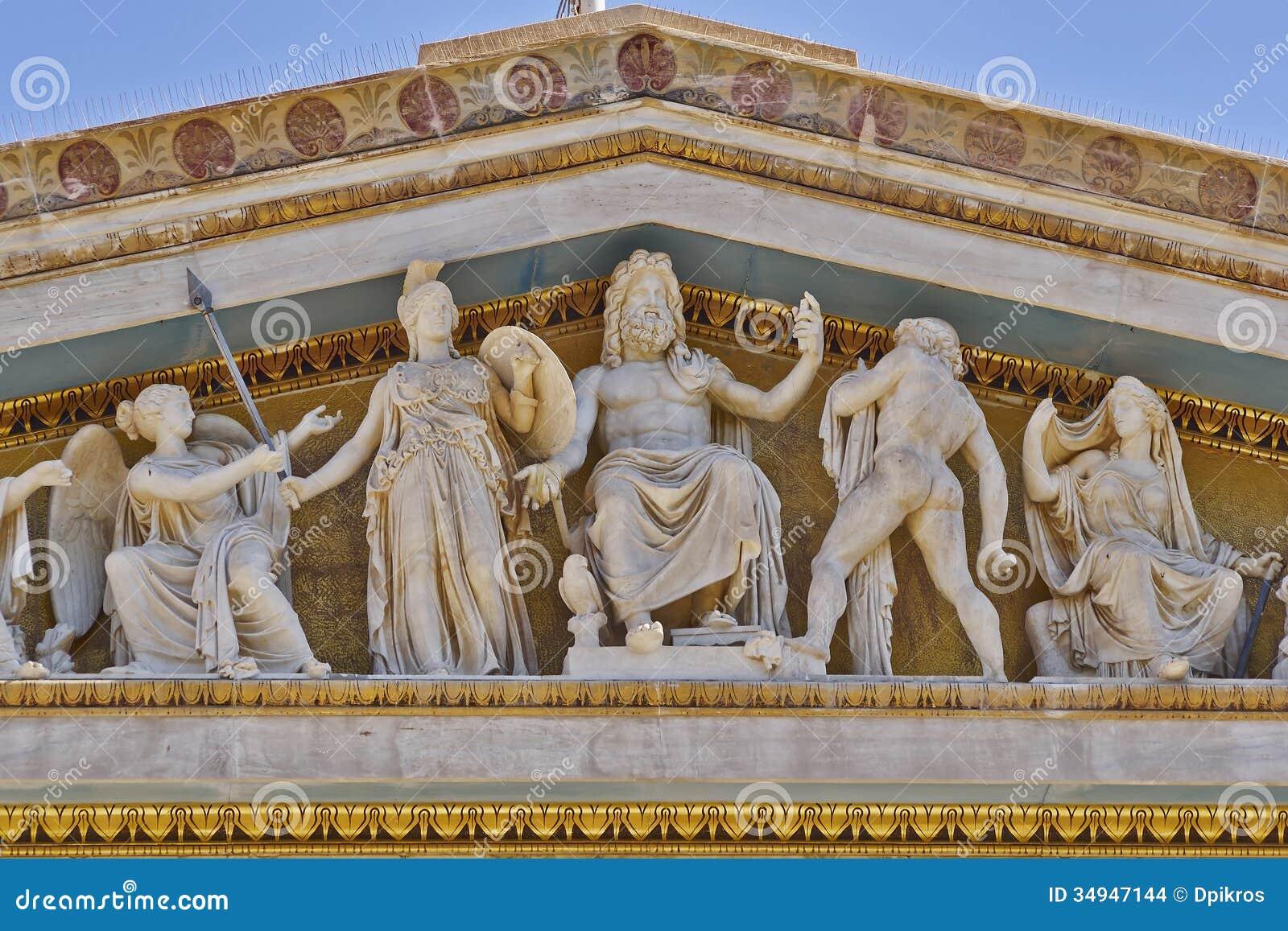 Zeus, Athéna et d autres dieux et divinités du grec ancien