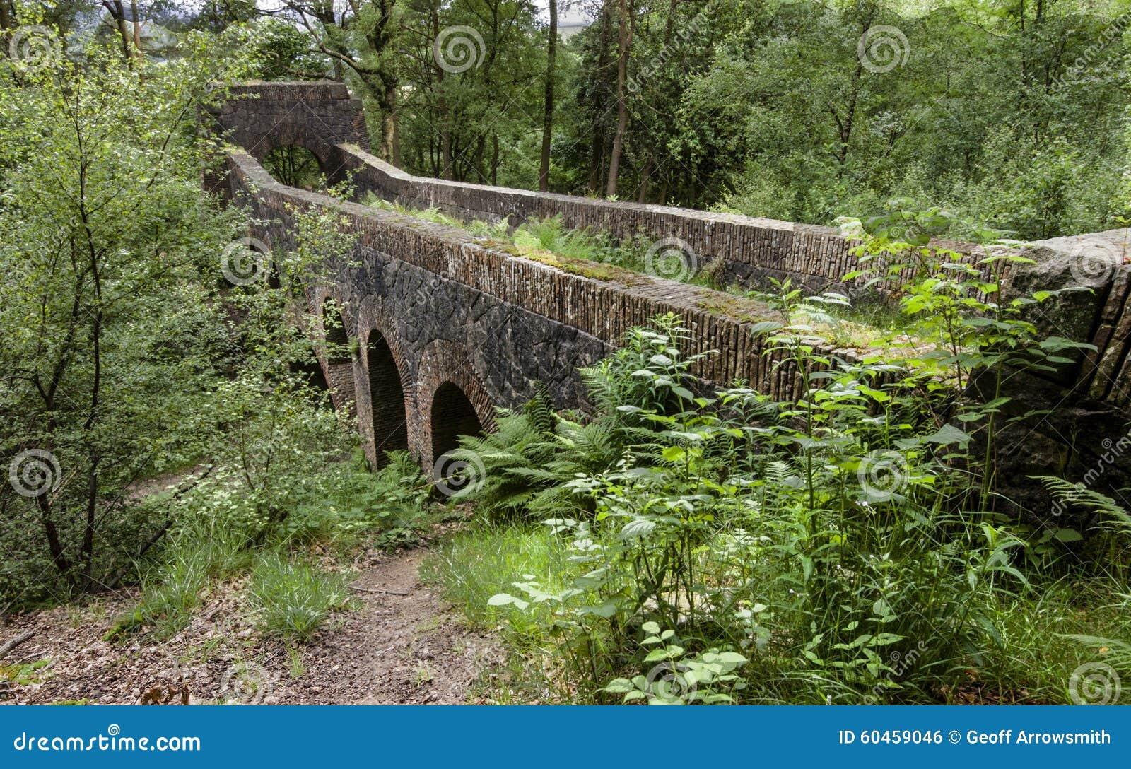 Zeven overspannen brug bij de Terrasvormige Tuinen van Rivington