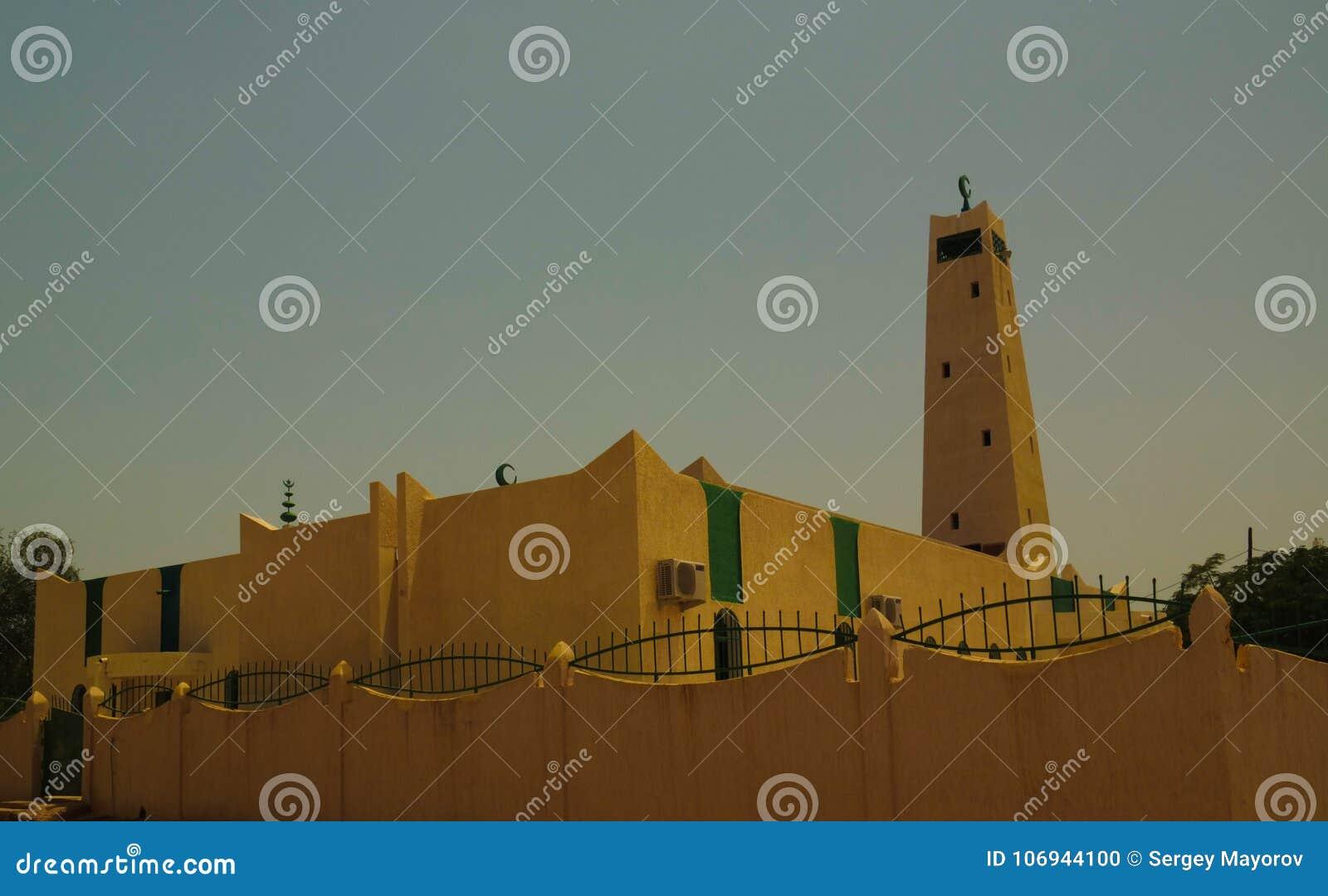 Zewnętrzny widok Uroczysty meczet Dosso, Niger