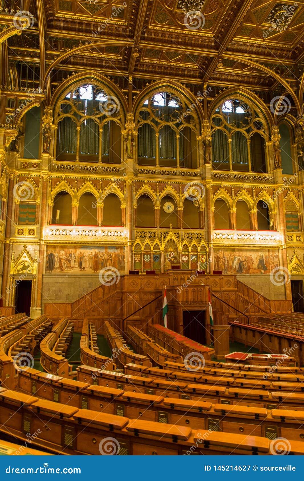 Zgromadzenie Hall W?gierski parlamentu budynek