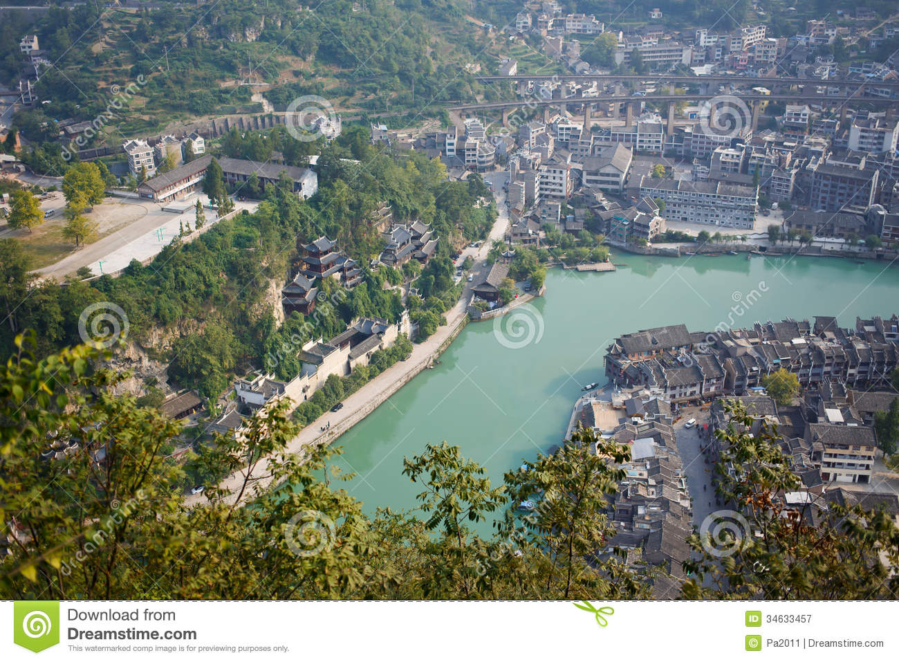 Free Home Plans Zhenyuan Ancient Town In Guizhou China Editorial