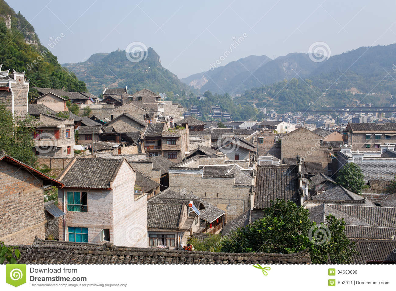 Zhenyuan (Guizhou) China  City new picture : zhenyuan guizhou china october 13 2013 zhenyuan old town within ...
