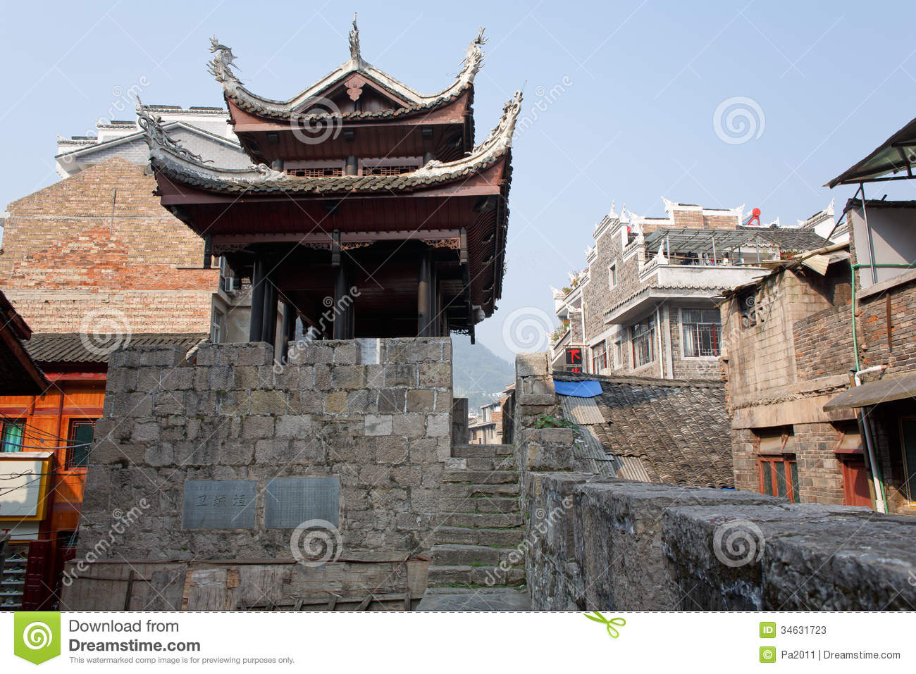 Zhenyuan (Guizhou) China  City new picture : zhenyuan guizhou china october 12 2013 zhenyuan old town within ...