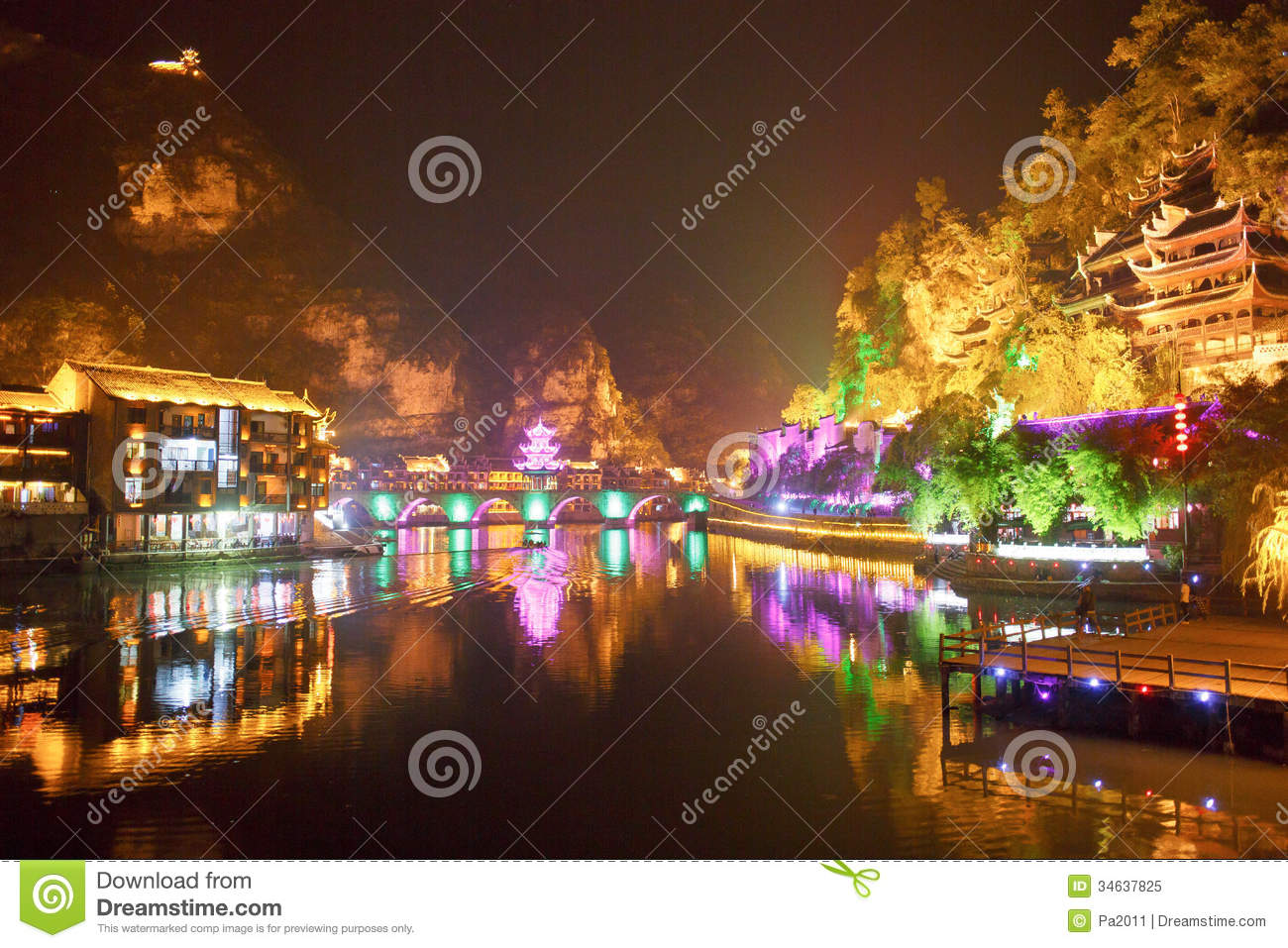 zhenyuan ancient town in guizhou china editorial image october clip art for free october clip art for free