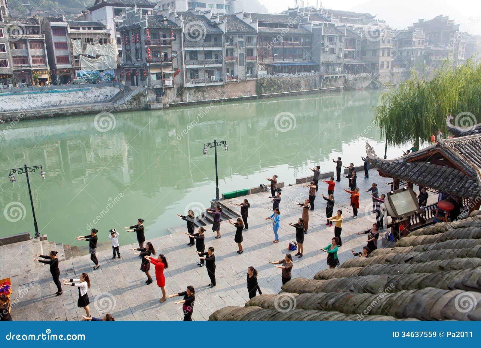Zhenyuan Ancient Town In Guizhou China Editorial Stock
