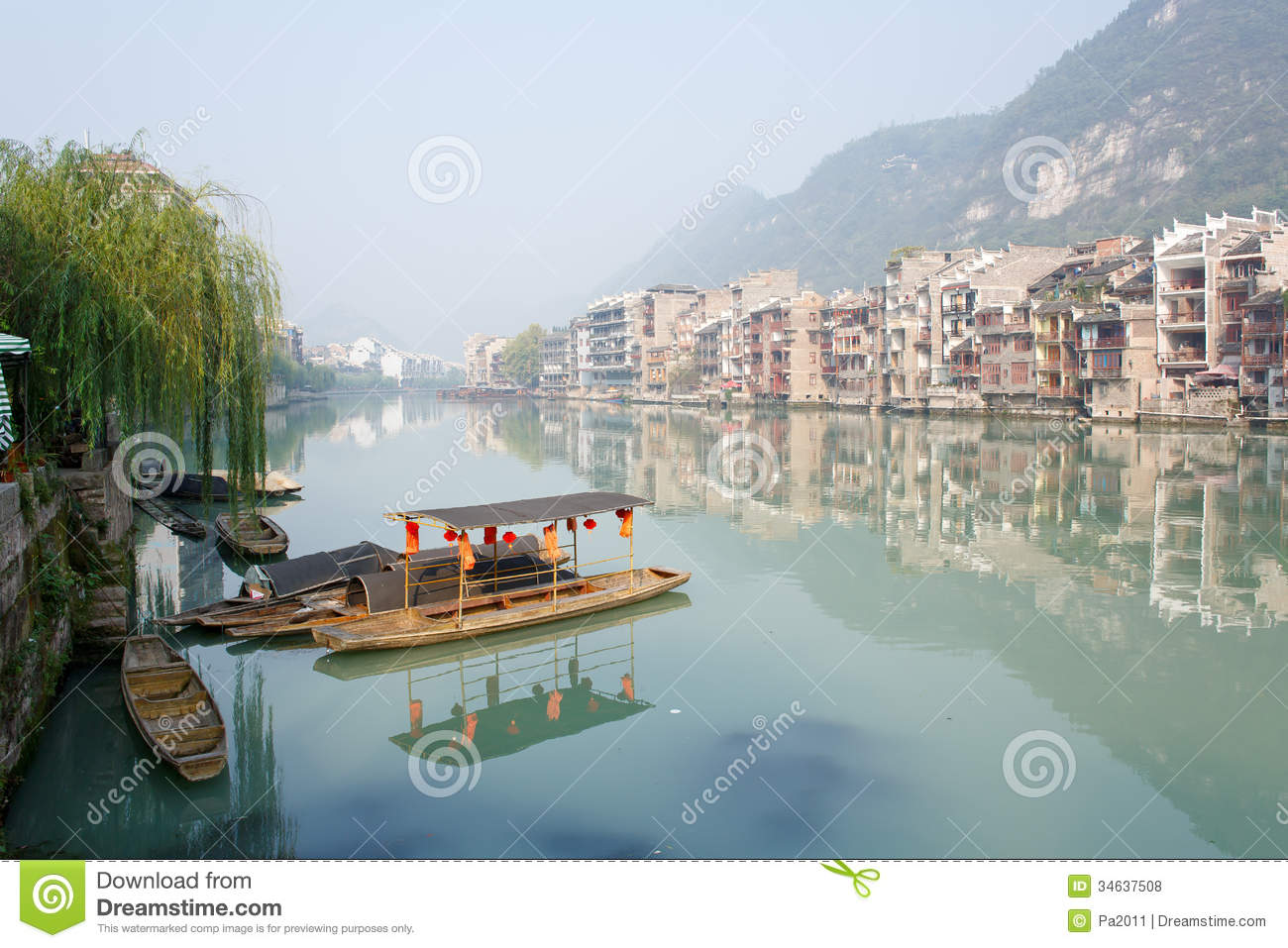Zhenyuan (Guizhou) China  City new picture : Zhenyuan Ancient Town In Guizhou China Editorial Stock Photo Image ...