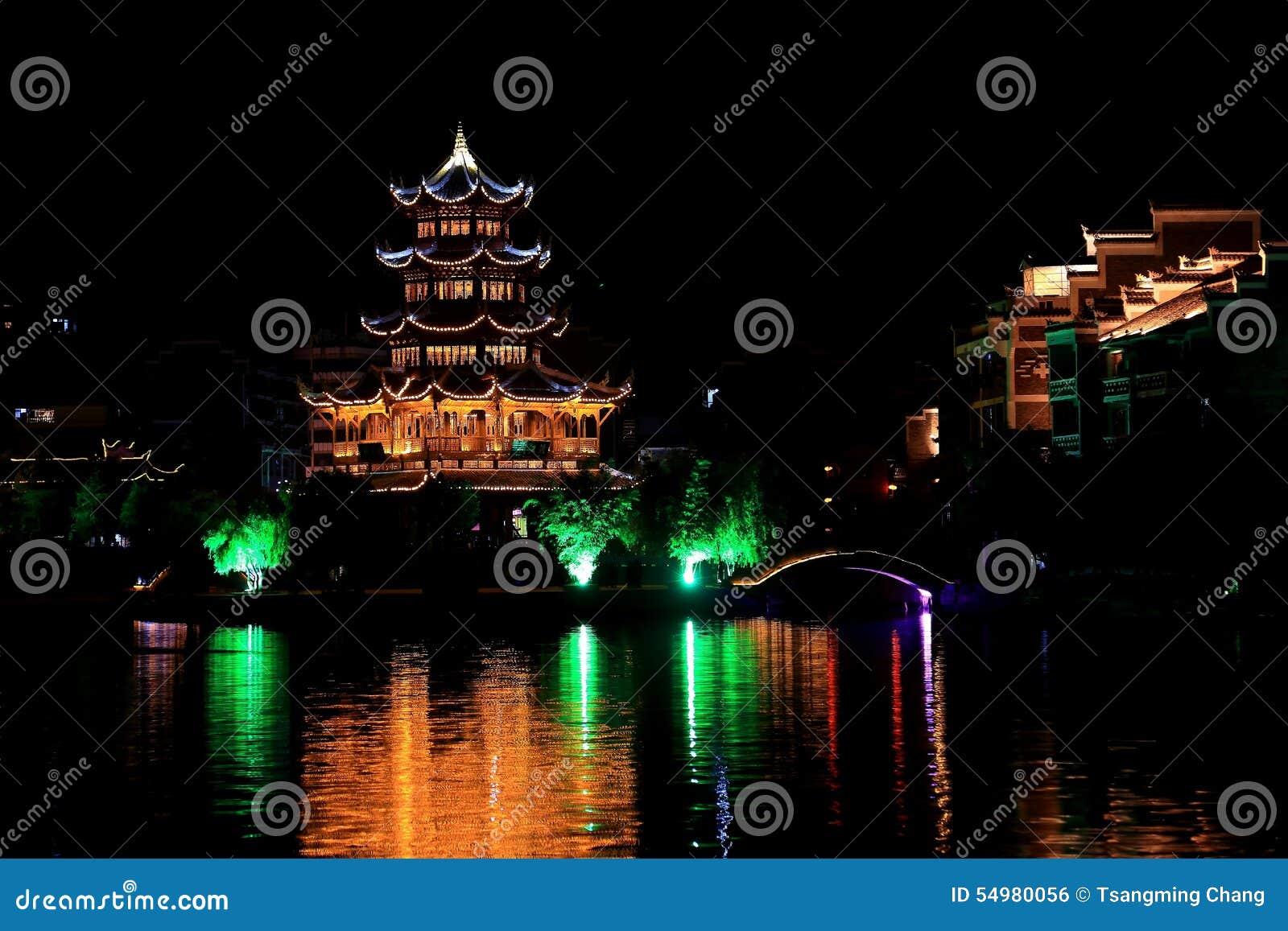 Zhenyuan en forntida town i Guizhou, Kina