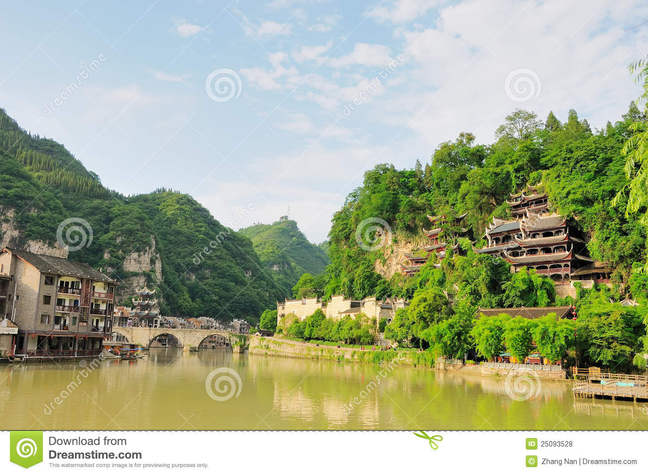 Zhenyuan (Guizhou) China  City pictures : Zhenyuan Guizhou China Royalty Free Stock Photos Image: 25093528