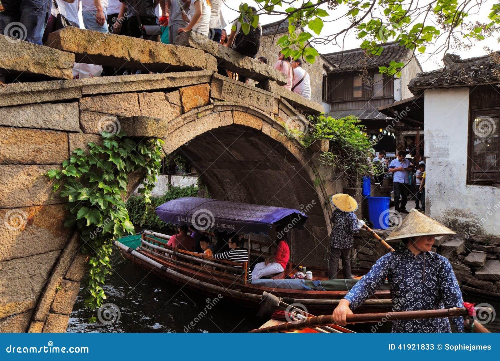Zhouzhuang en China se conoce como la Venecia del este