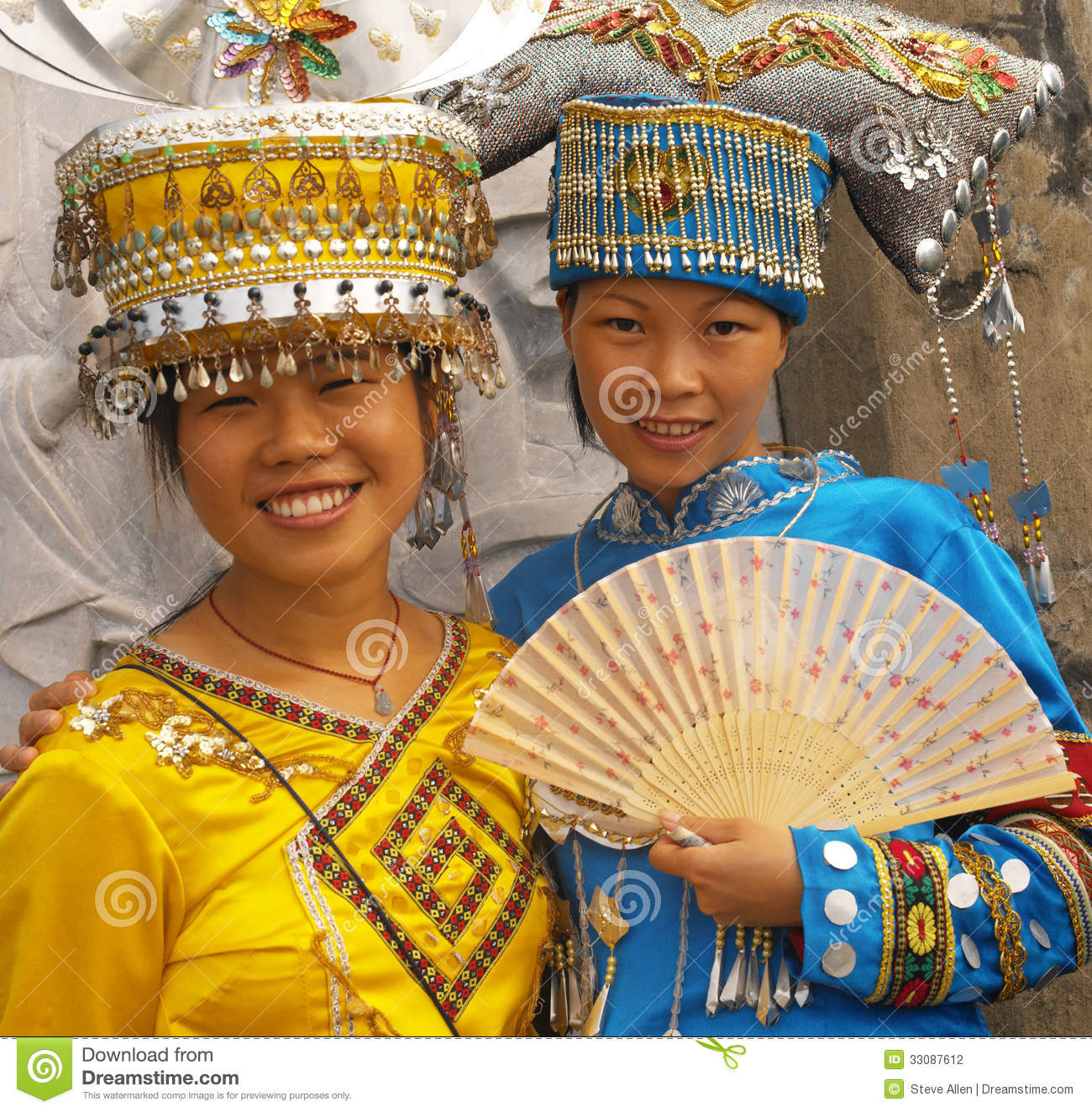 Zhuang Minority People - Guilin - China Editorial Photography ...