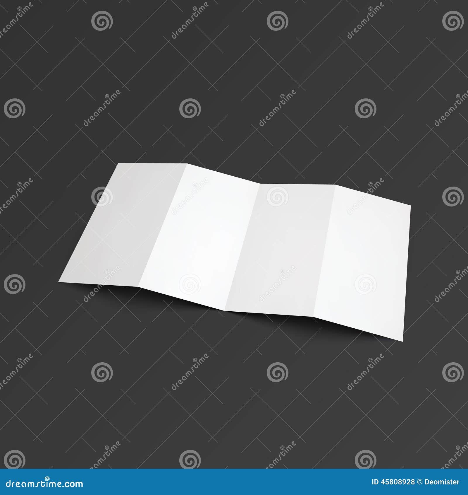 Zickzackbroschüre gefaltet auf vier Teilen