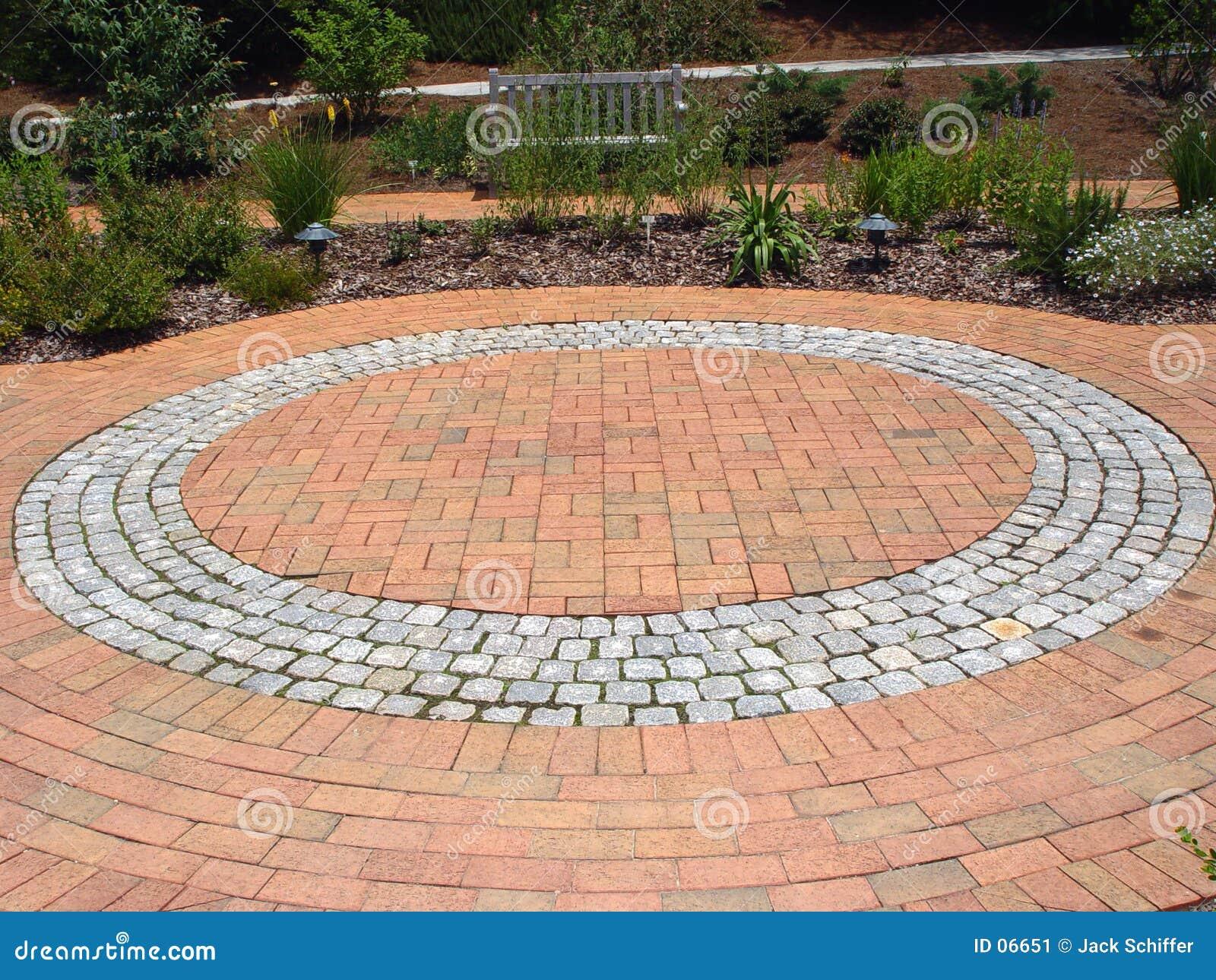 Ziegelstein-Bodenbelag