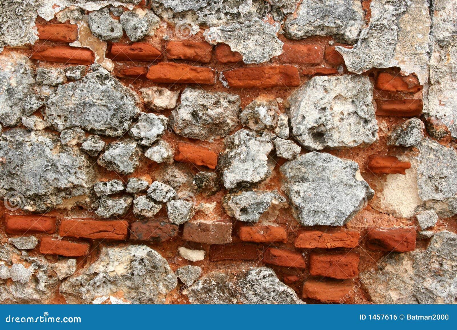 Ziegelsteine in einer Wand