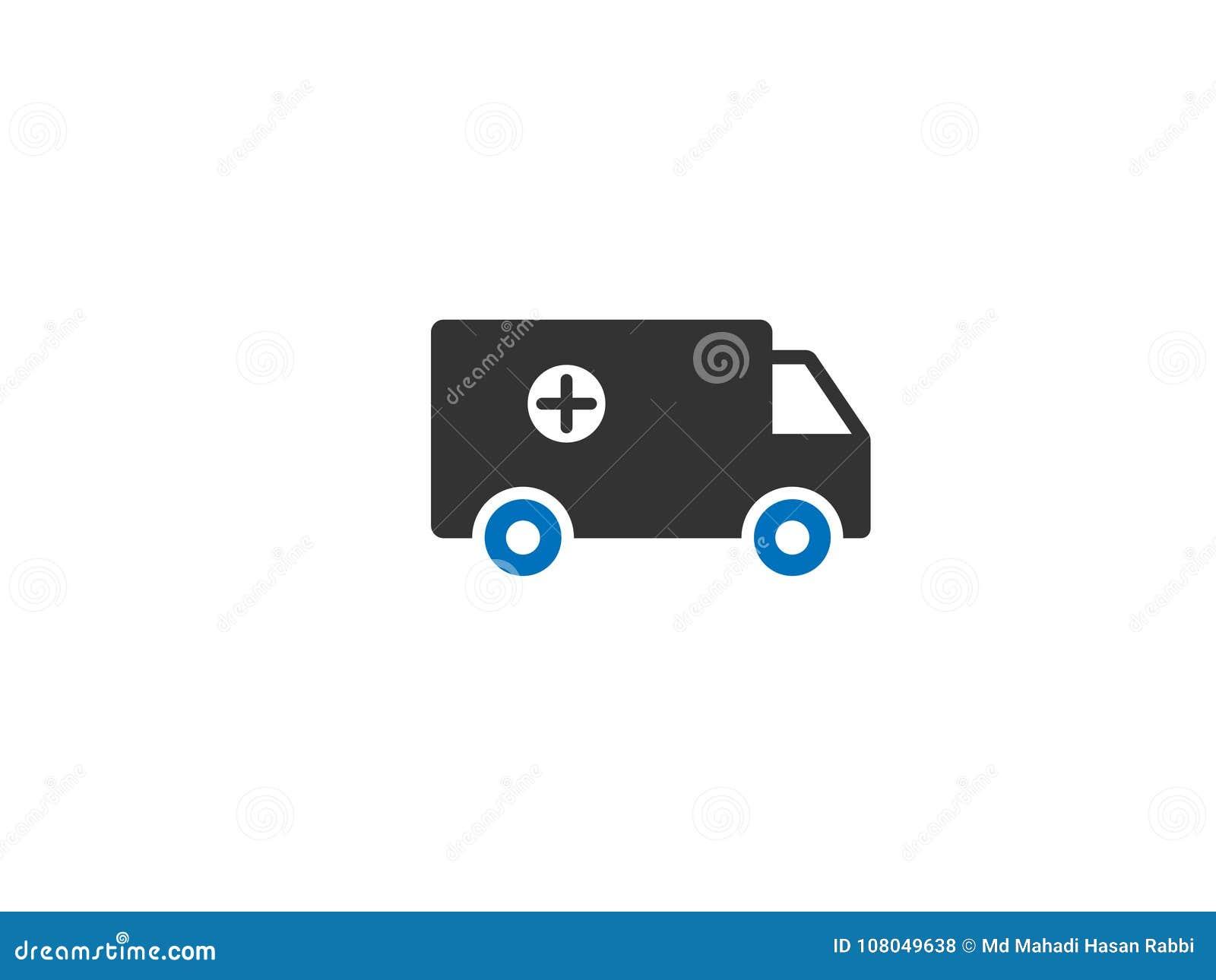 Ziekenwagen/Auto de Vector van het Webpictogram