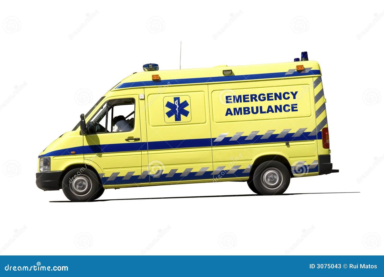 Ziekenwagen in beweging