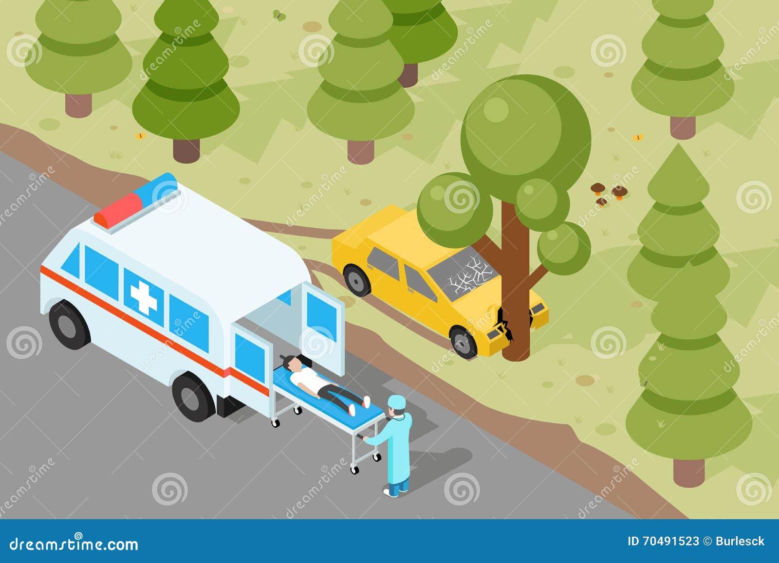 Ziekenwagen Evacuatie van het noodsituatie de medische ongeval