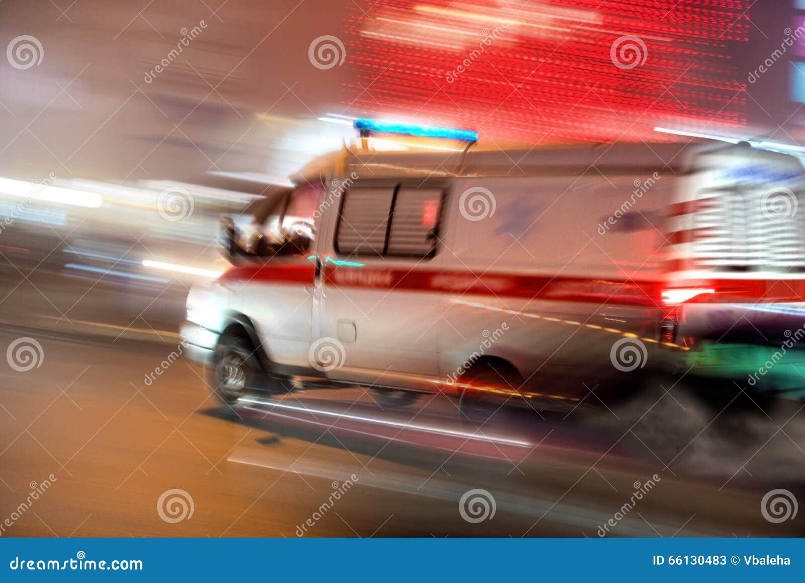 Ziekenwagen in motie
