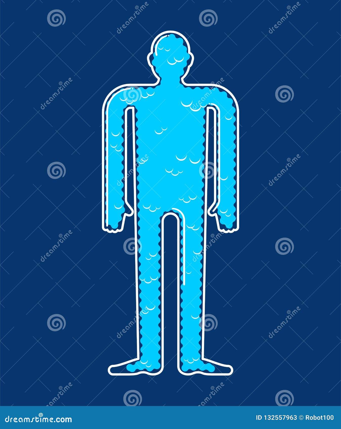 Ziel binnen lichaam De essentie van het wolkenlichaam Vector illustratie