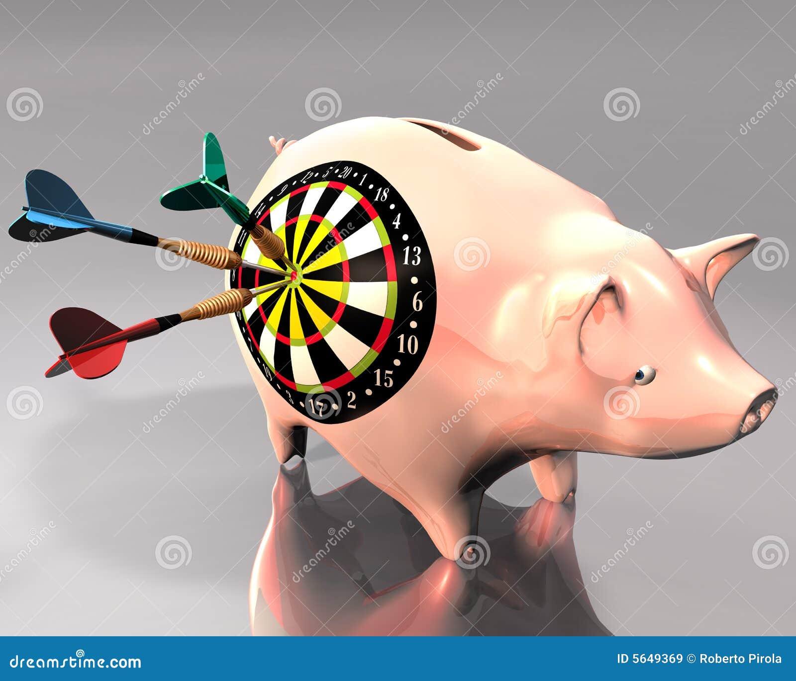 Ziel der Piggy Querneigung und des Pfeiles