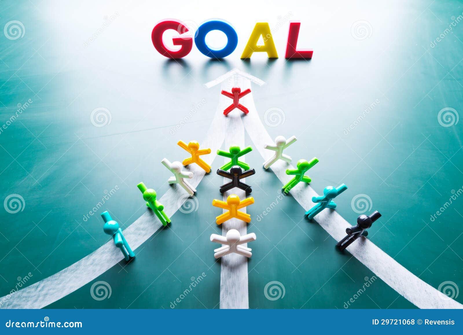 ziel und teamwork konzept lizenzfreie stockfotos bild