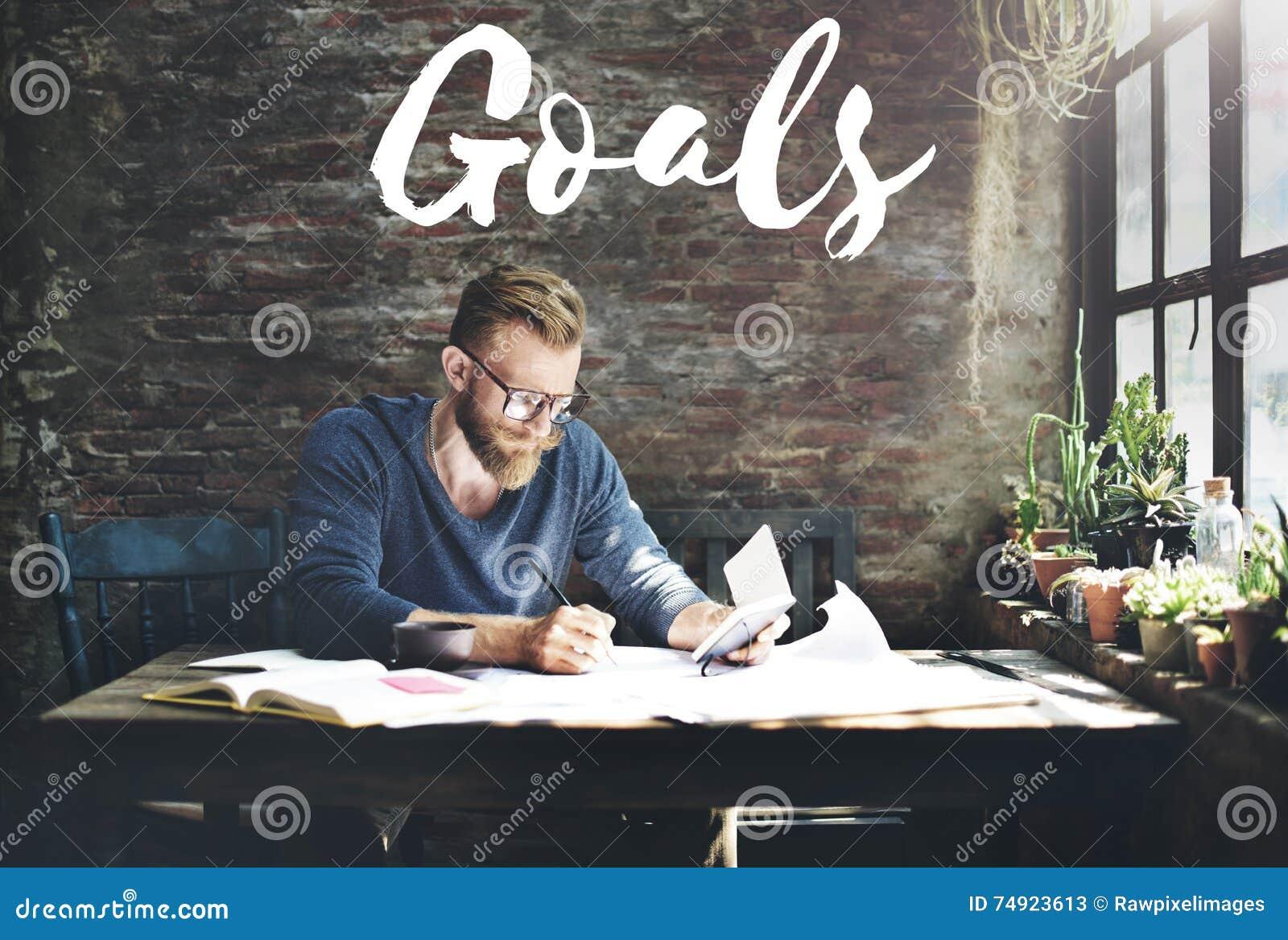 Ziel-Ziel-Ziel-Visions-Motivations-Aspirations-Konzept