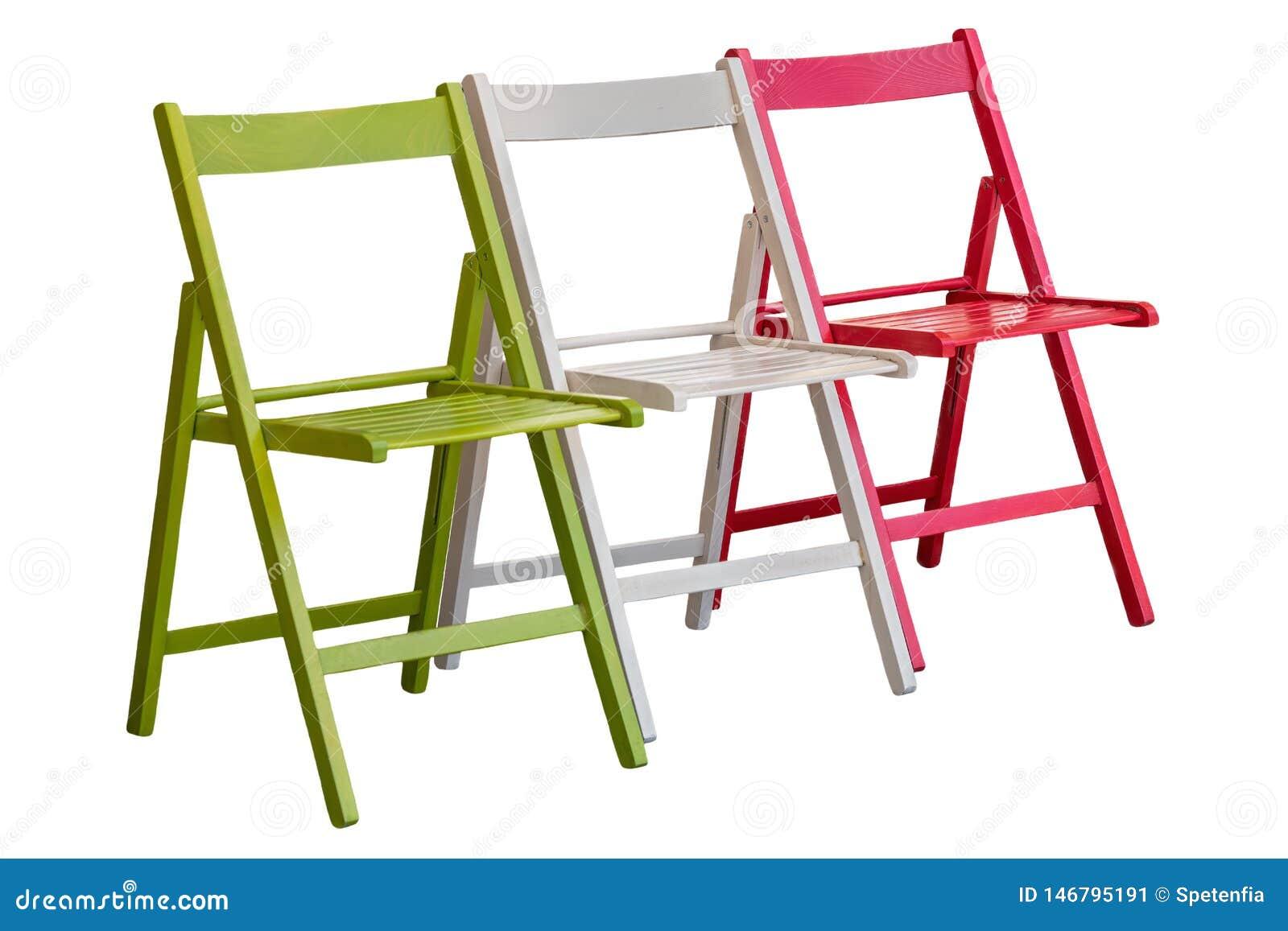Zieleń, biel i czerwony krzesło jak włoch flaga,