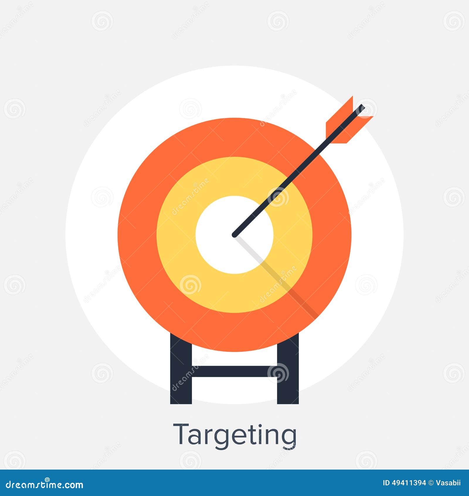 Download Zielen stockfoto. Bild von ikone, strategie, mitte, marketing - 49411394