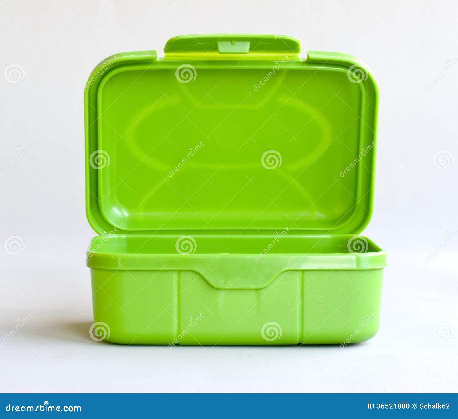 Zieleni otwarty pudełko
