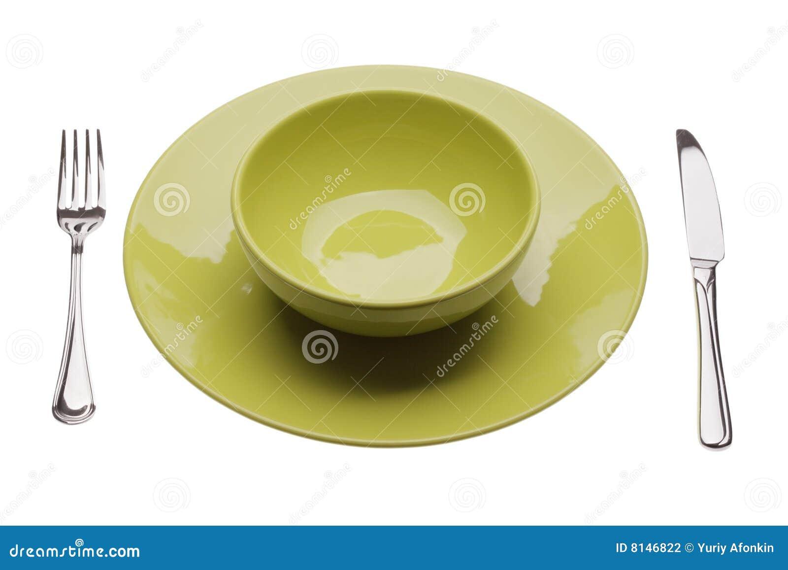 Zieleni półkowi tablewares