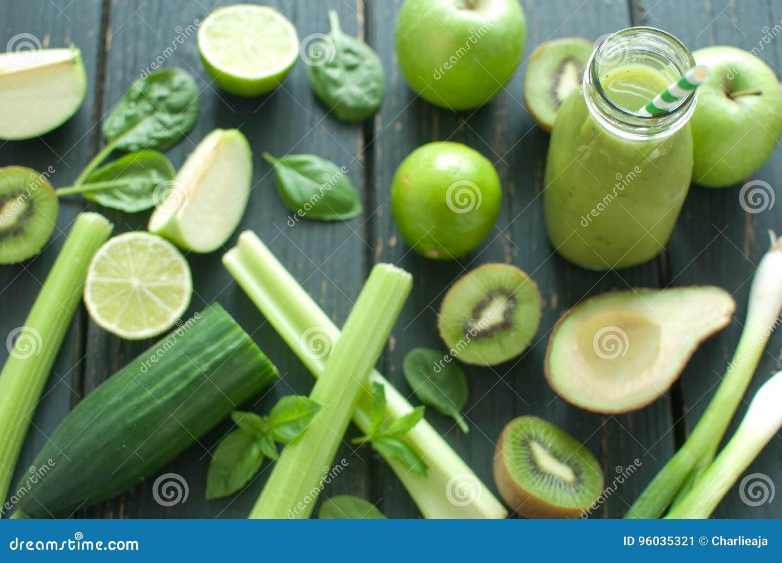 Zieleni smoothie składniki