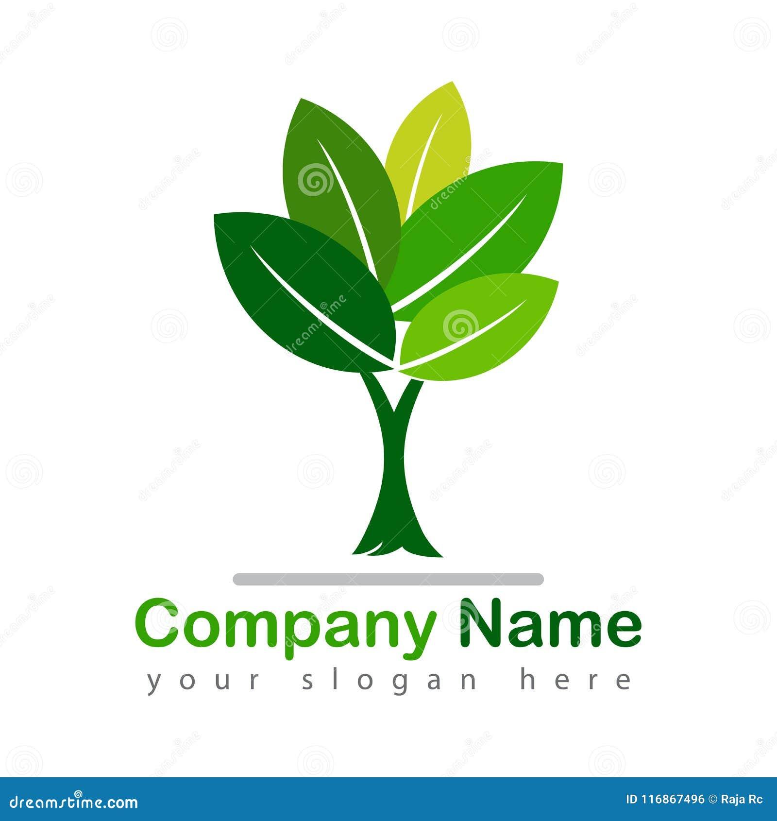 Zielona drzewna logotypu wektoru ilustracja