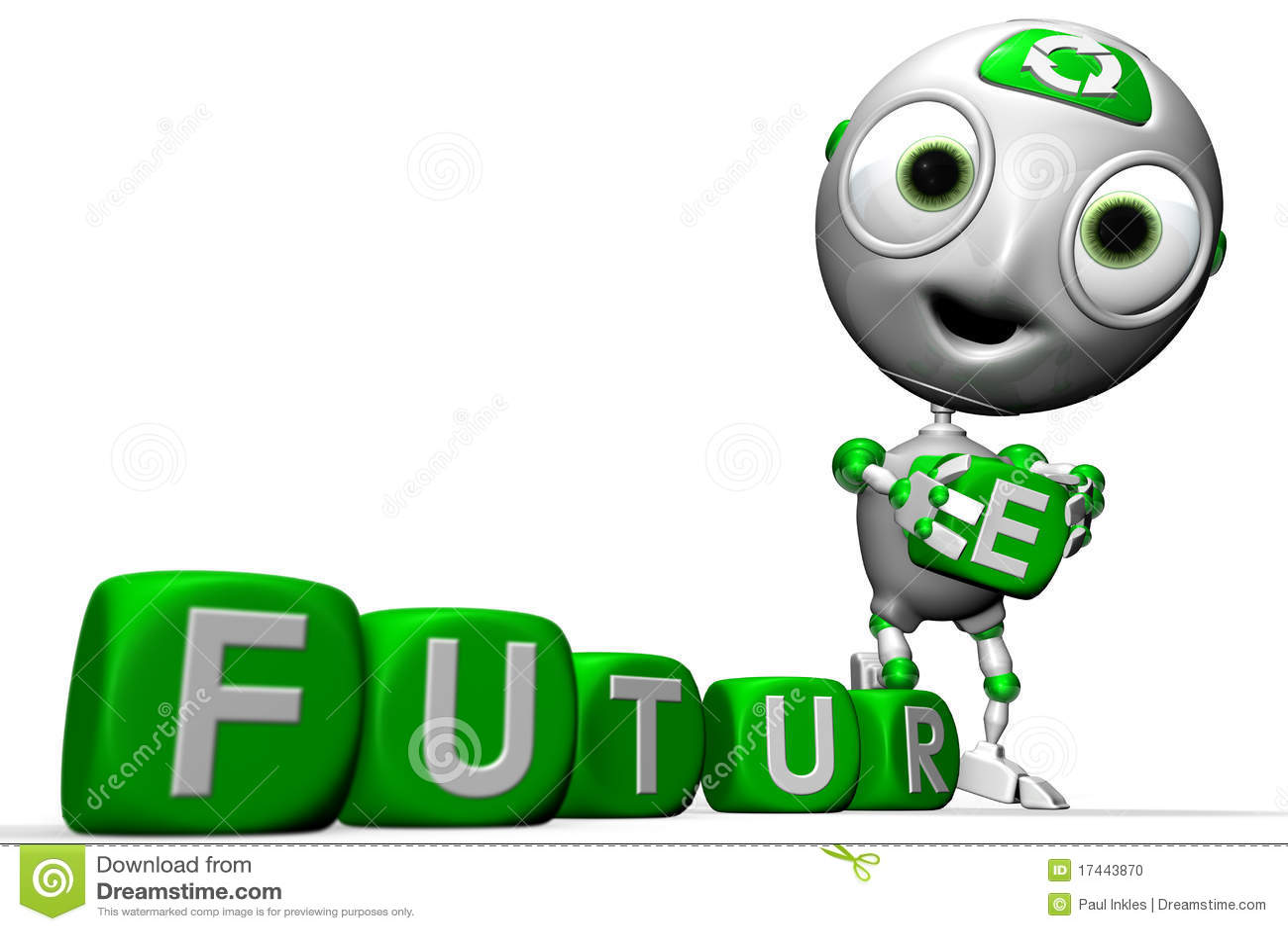 Zielona envirobot przyszłość