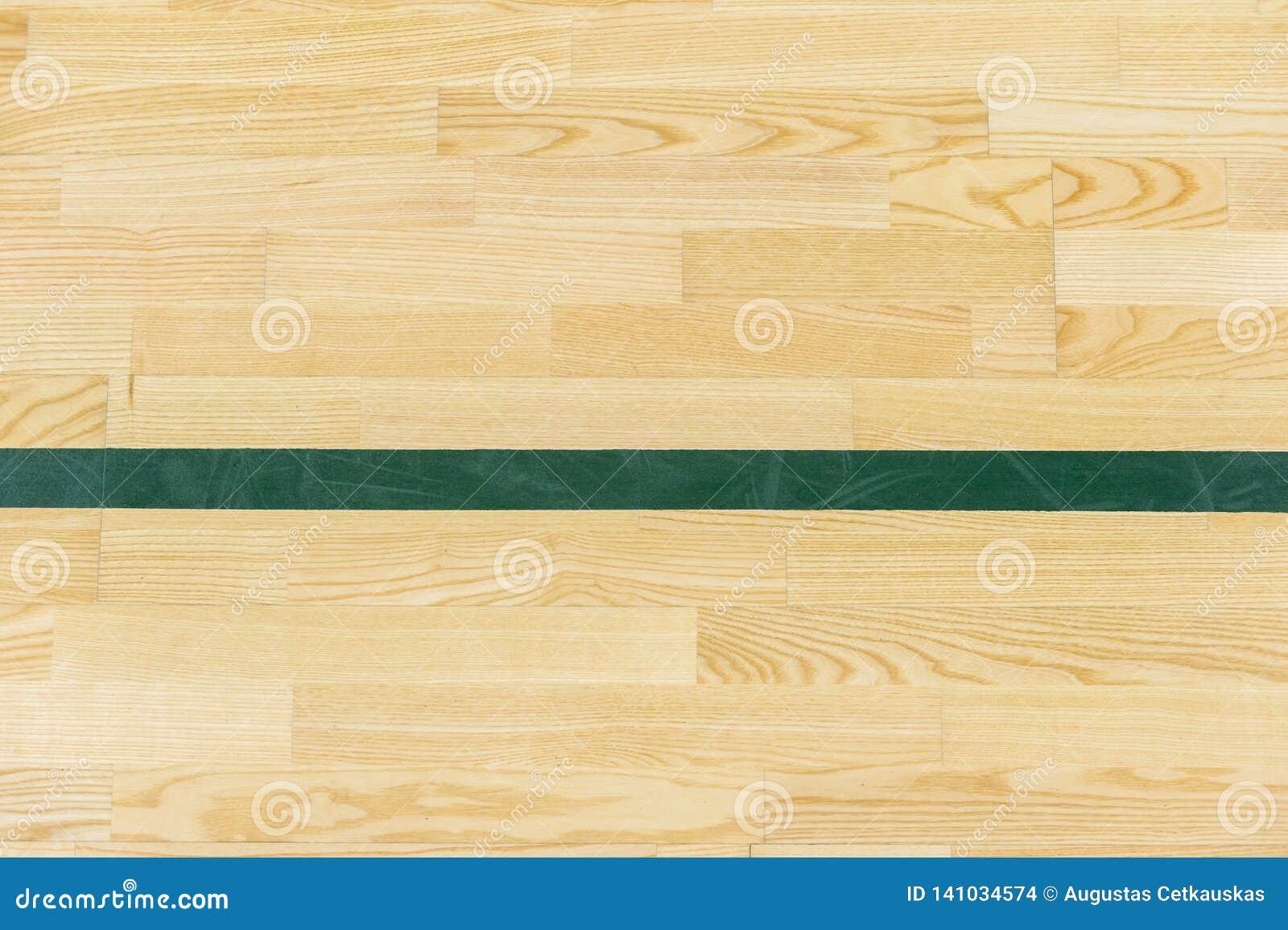 Zielona lina na sali gimnastycznej podłodze dla wyznacza sporta sądu Badminton, Futsal, siatkówka i boisko do koszykówki,