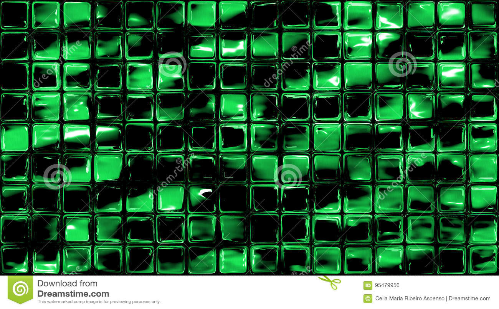 Zielona mała szklana ściana tafluje tło