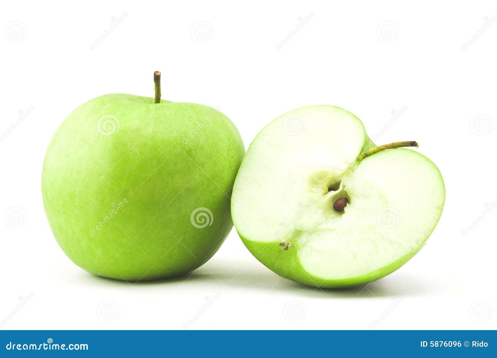 - zielona pół jabłko