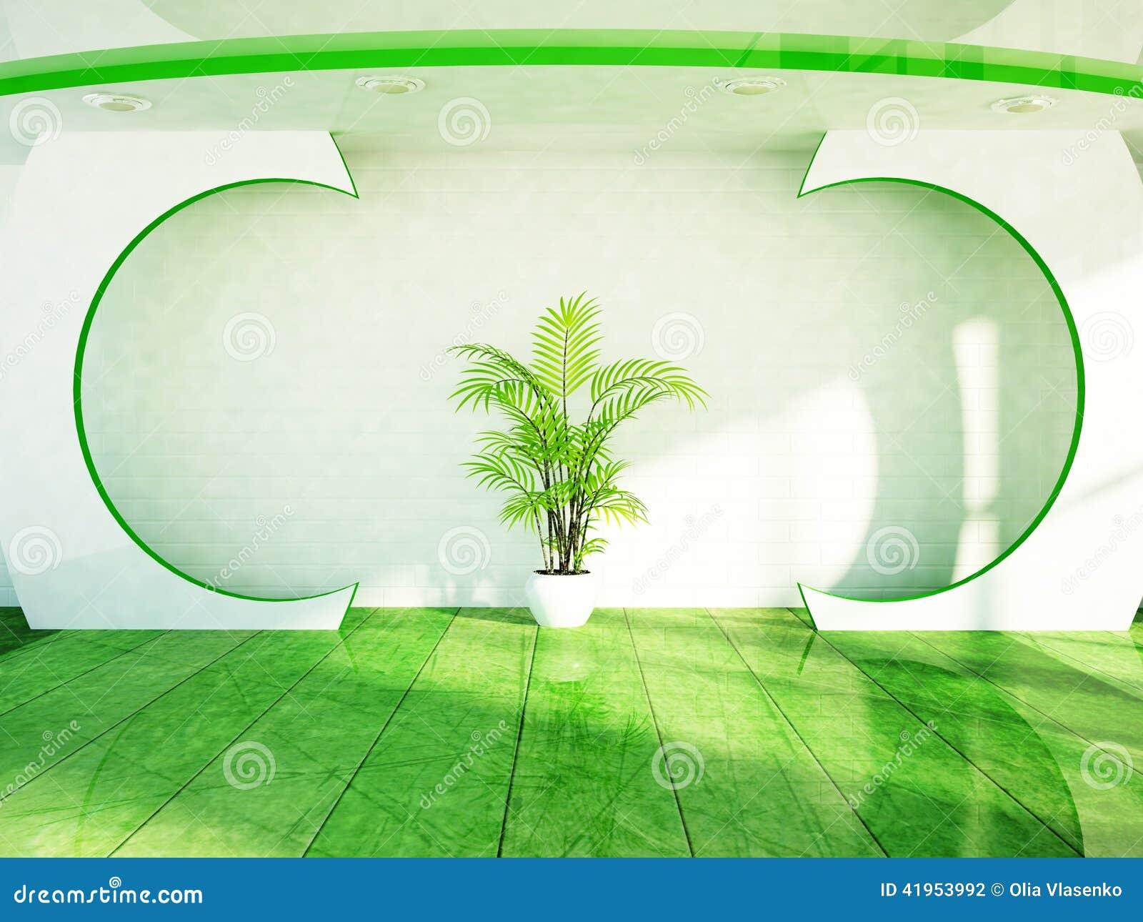Zielona roślina jest na pokoju