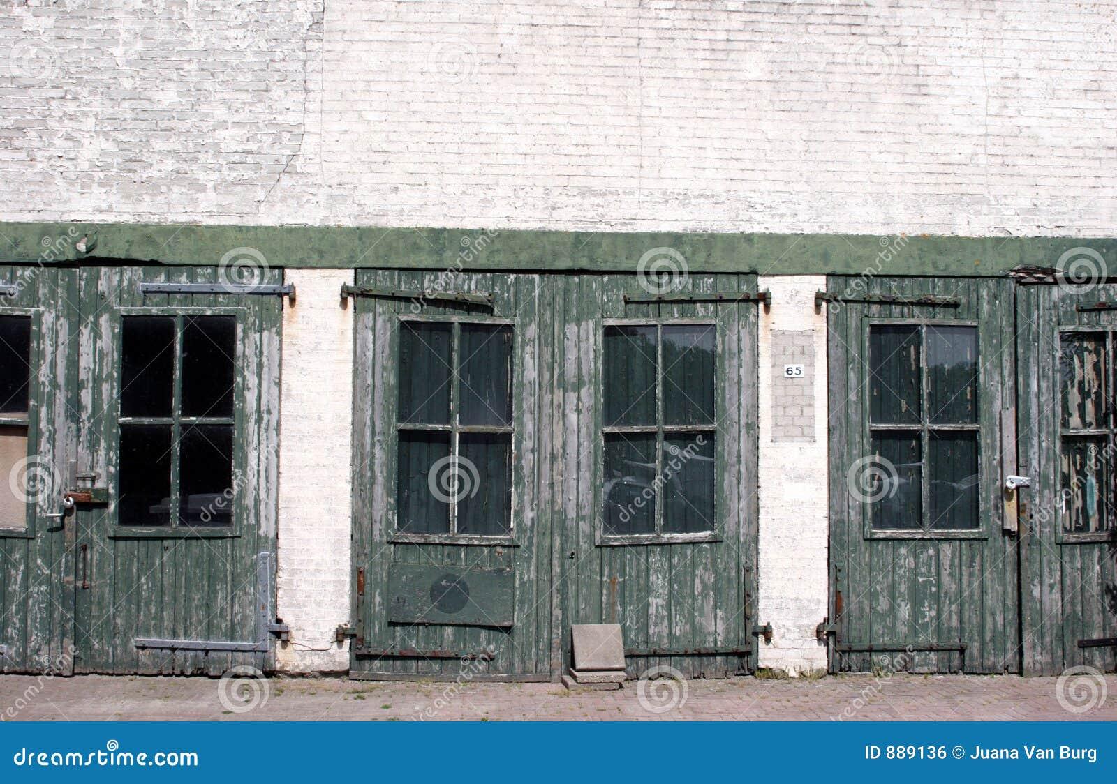Zielone drzwi