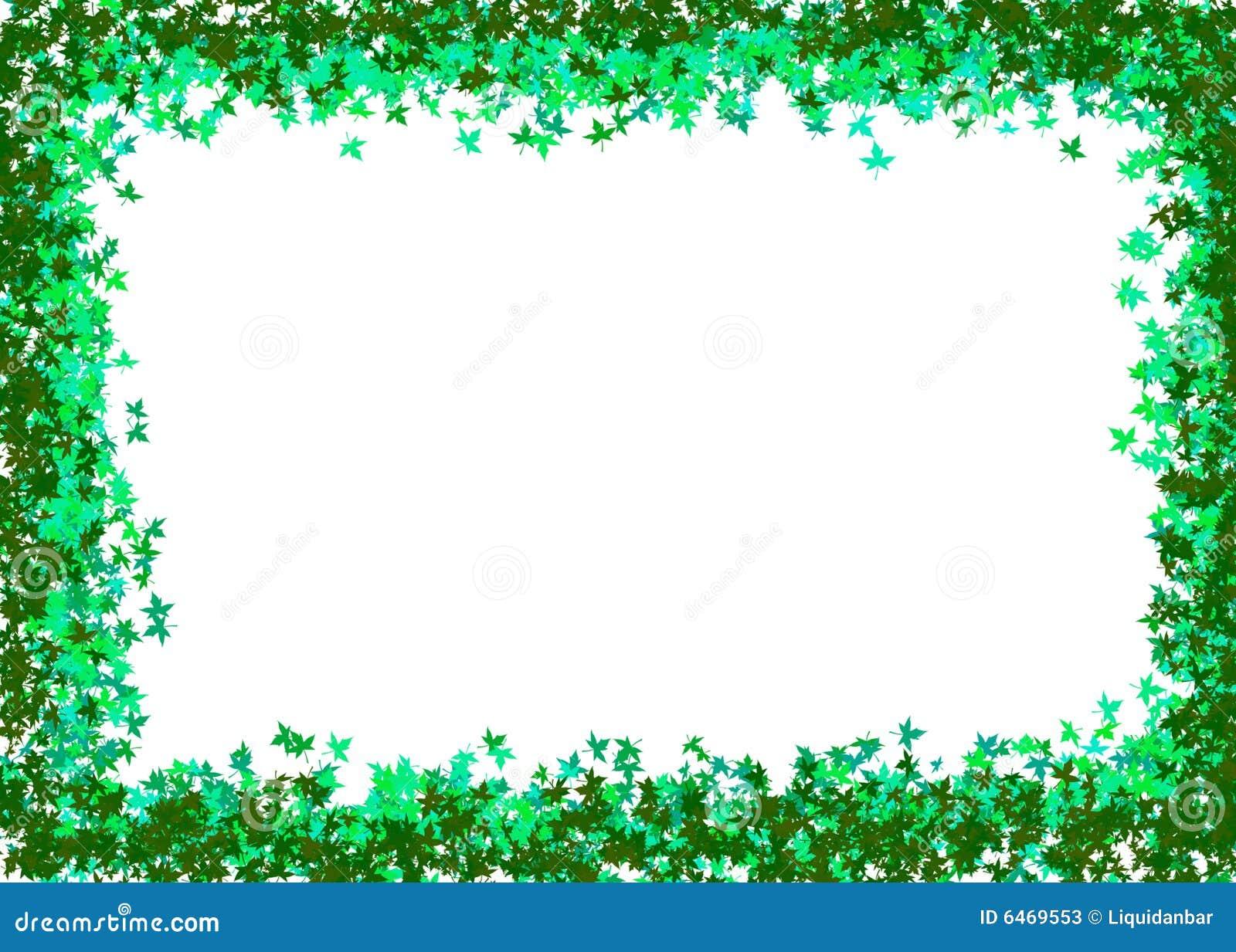 Zielone liście ramowi