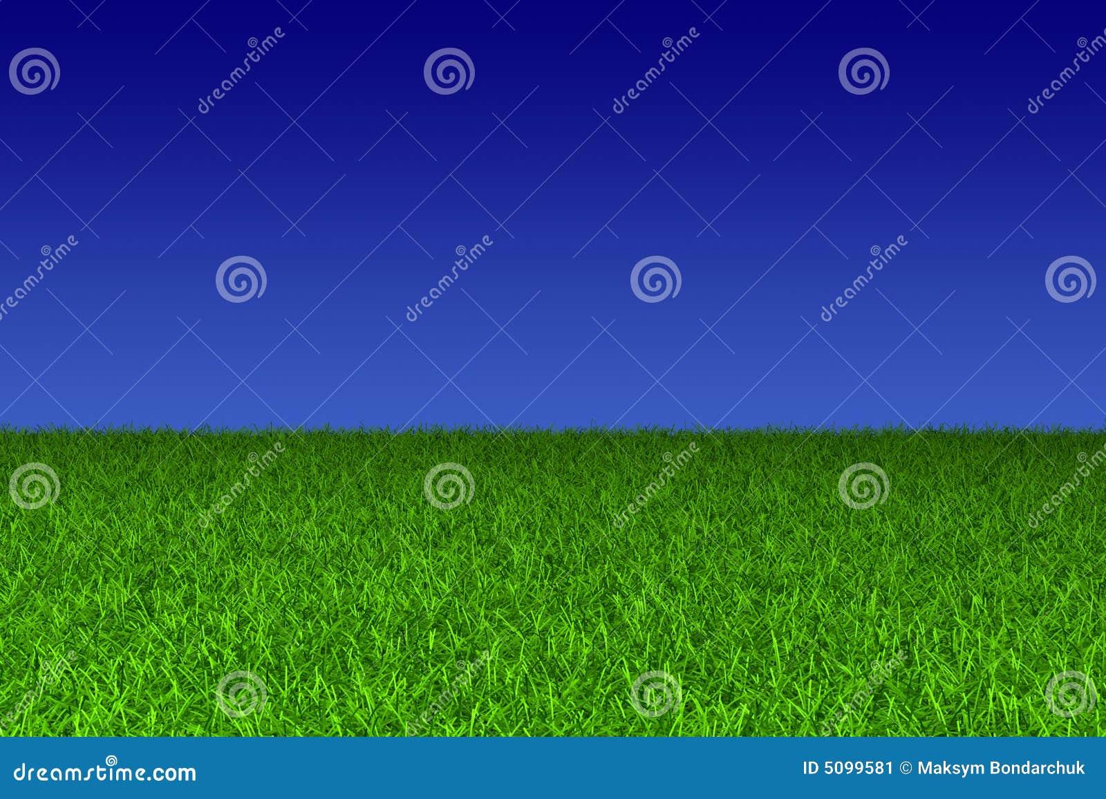 Zielone niebo błękitne trawy