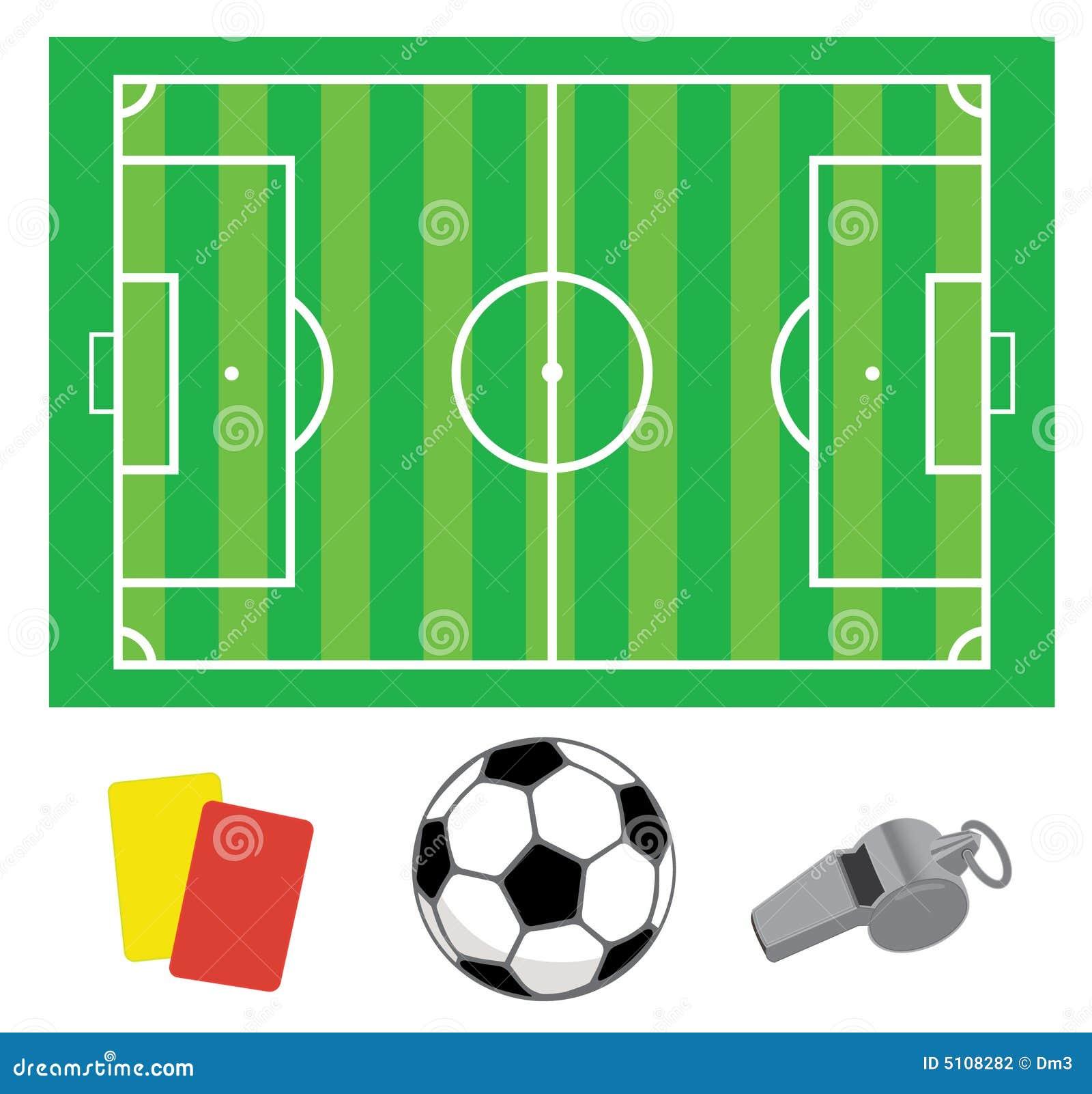 Zielone pola piłka nożna