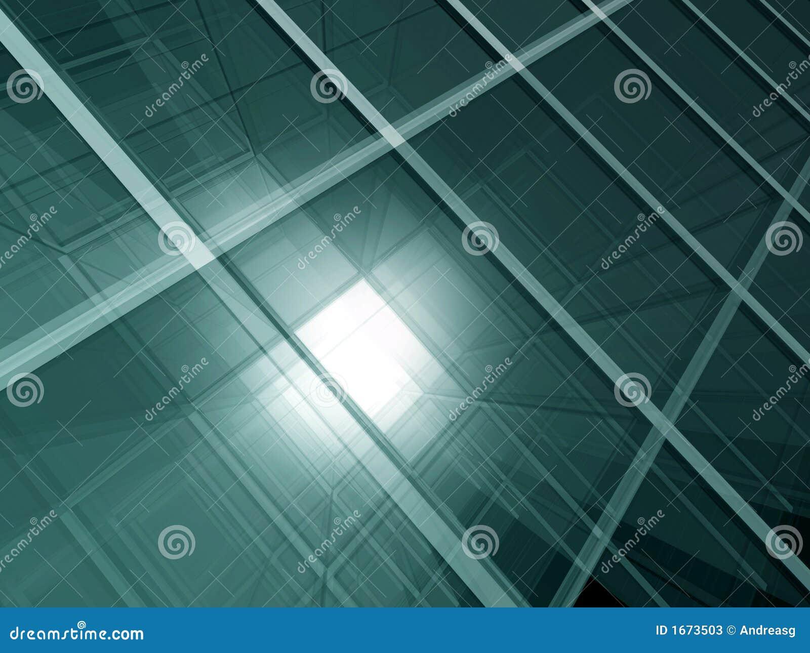 Zielone szkło przestrzeni