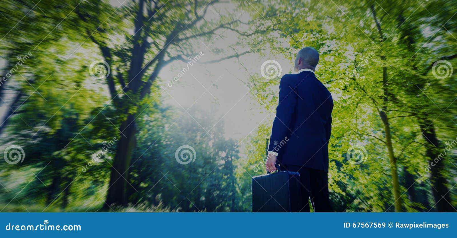 Zielonej Biznesowej biznesmen inspiraci Pokojowy pojęcie