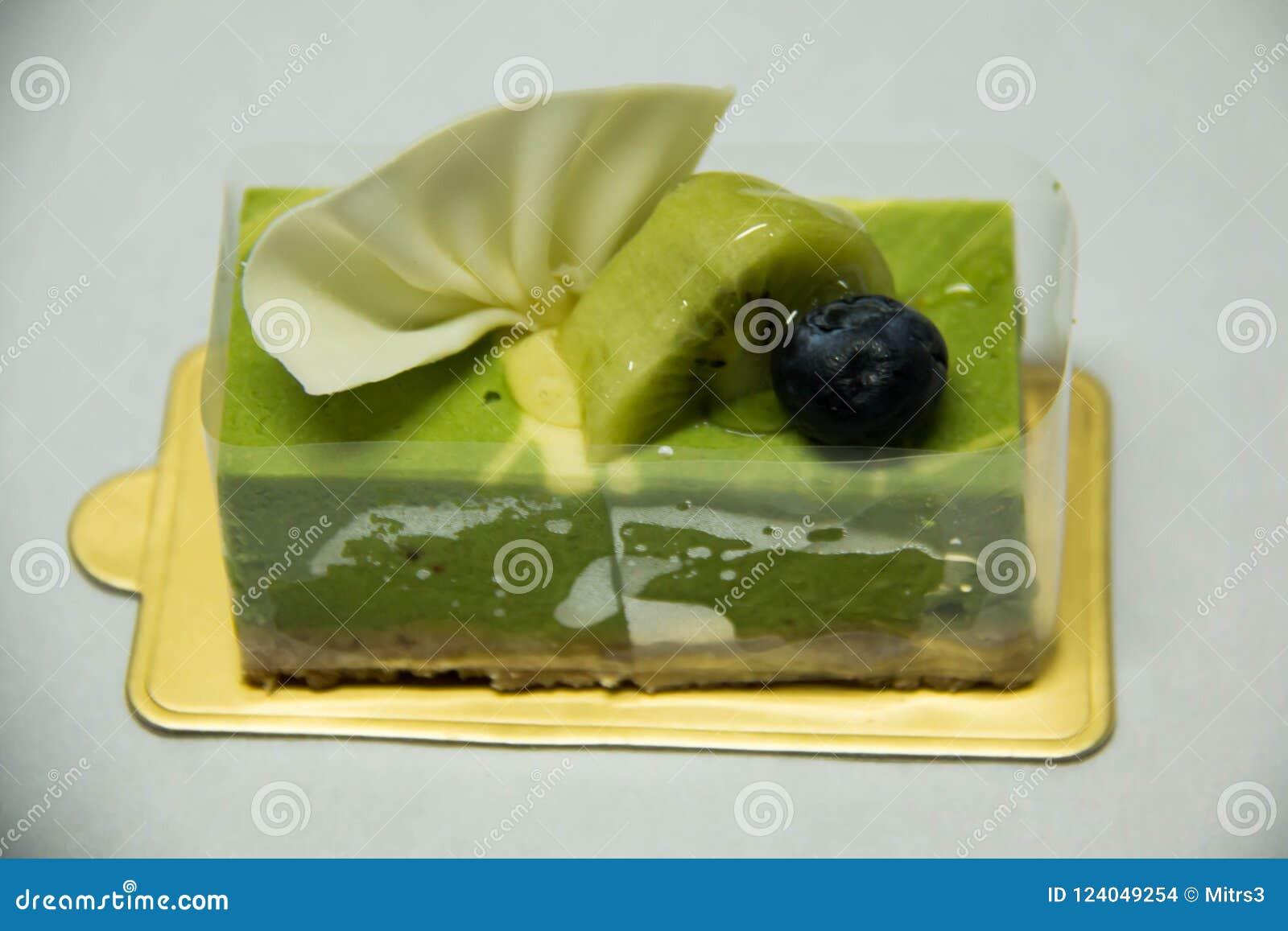 Zielonej herbaty cheesecake Tradycyjny, smakowity