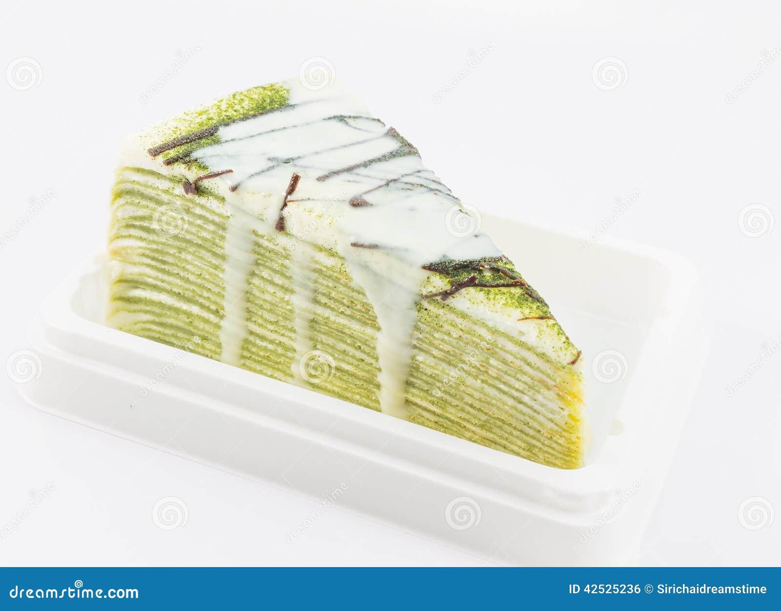 Zielonej herbaty krepy tort