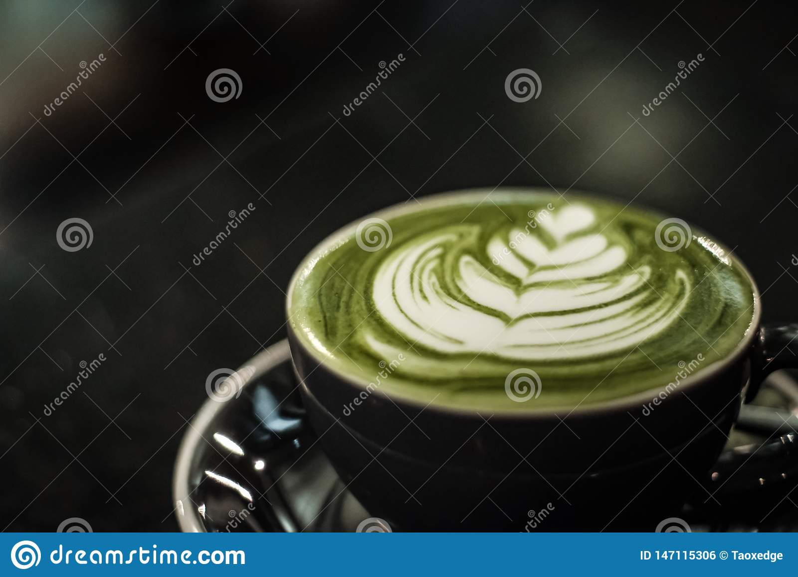 Zielonej herbaty latte