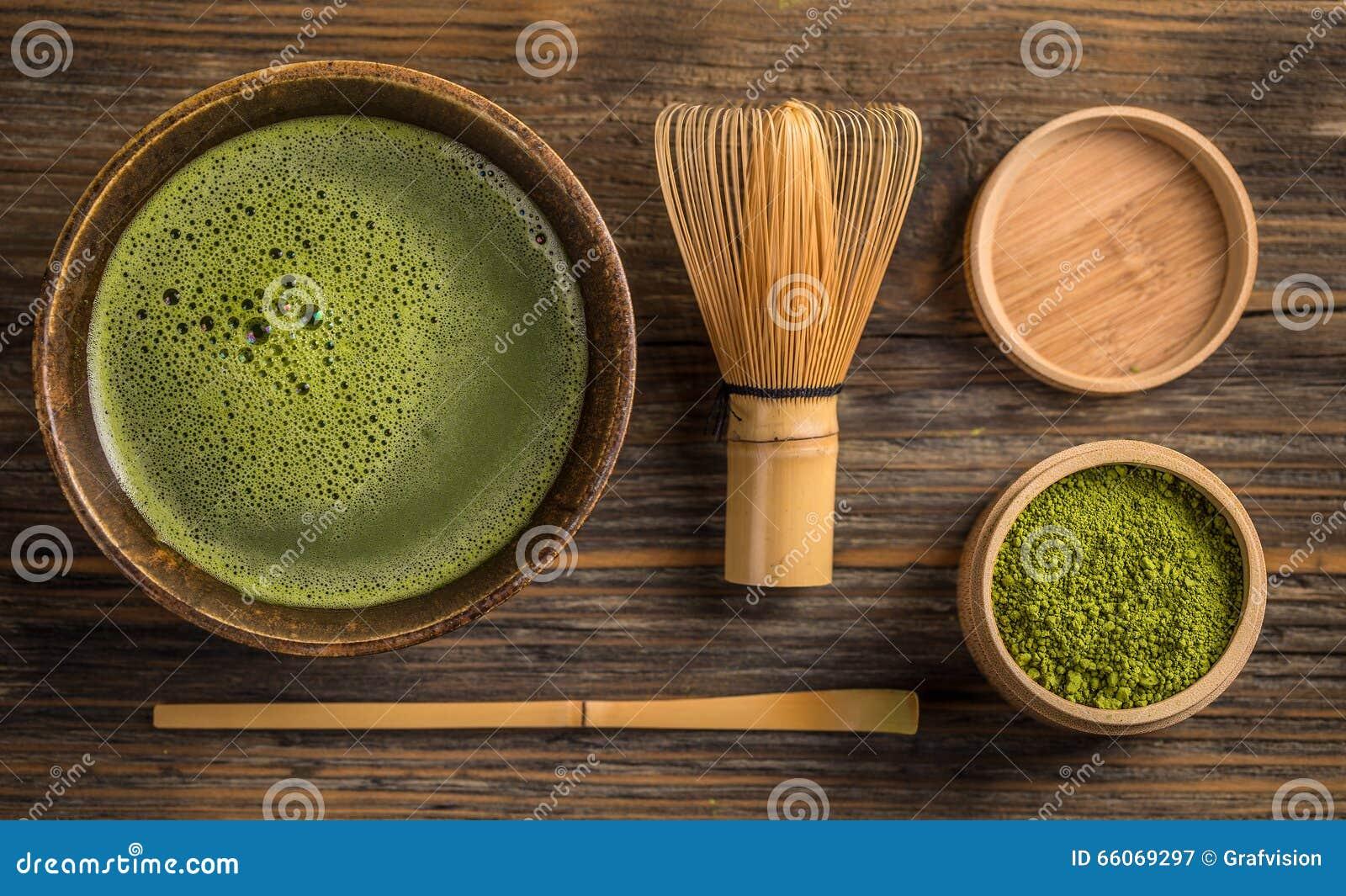 Zielonej herbaty matcha