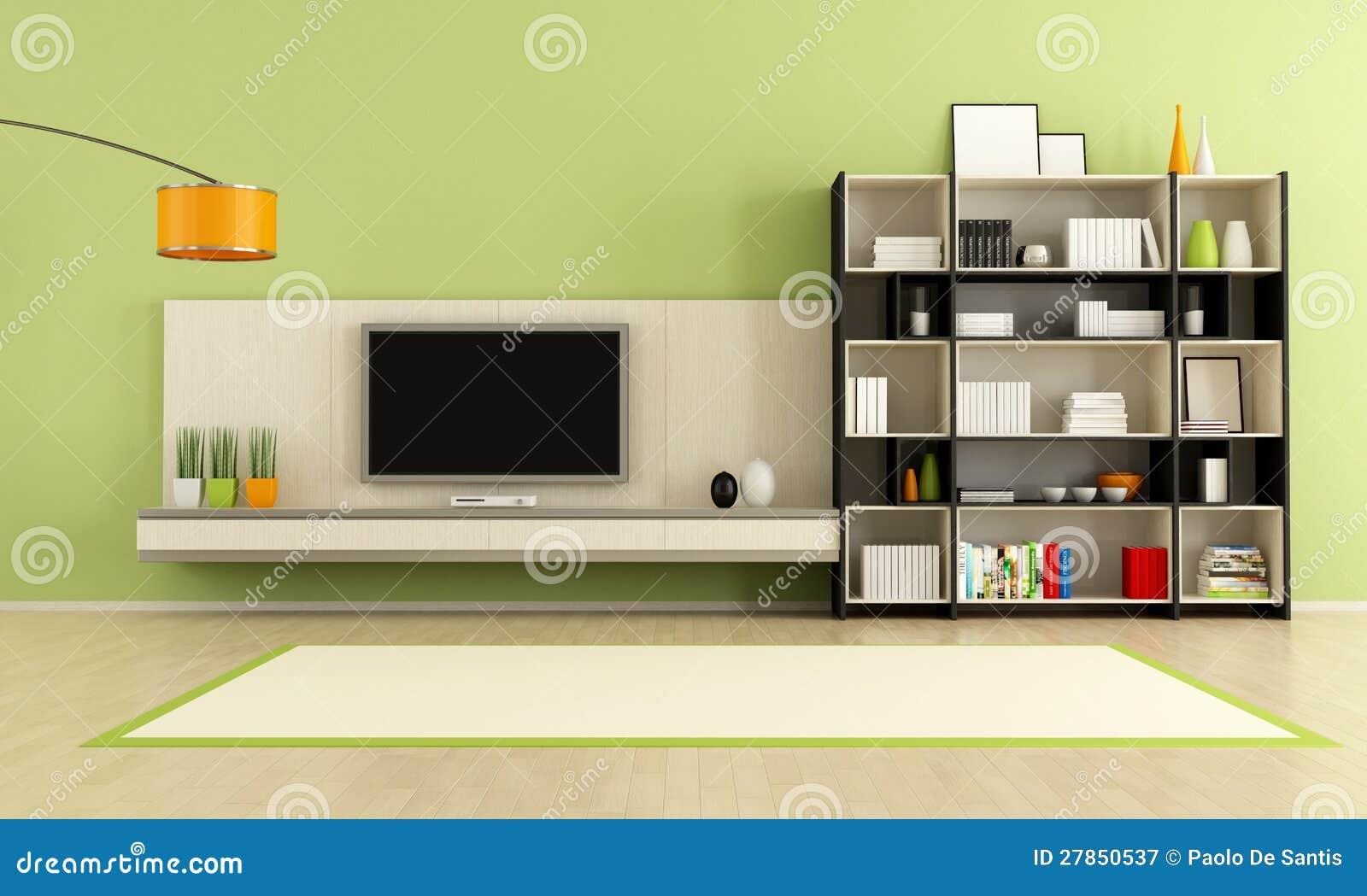 Zielony żywy pokój