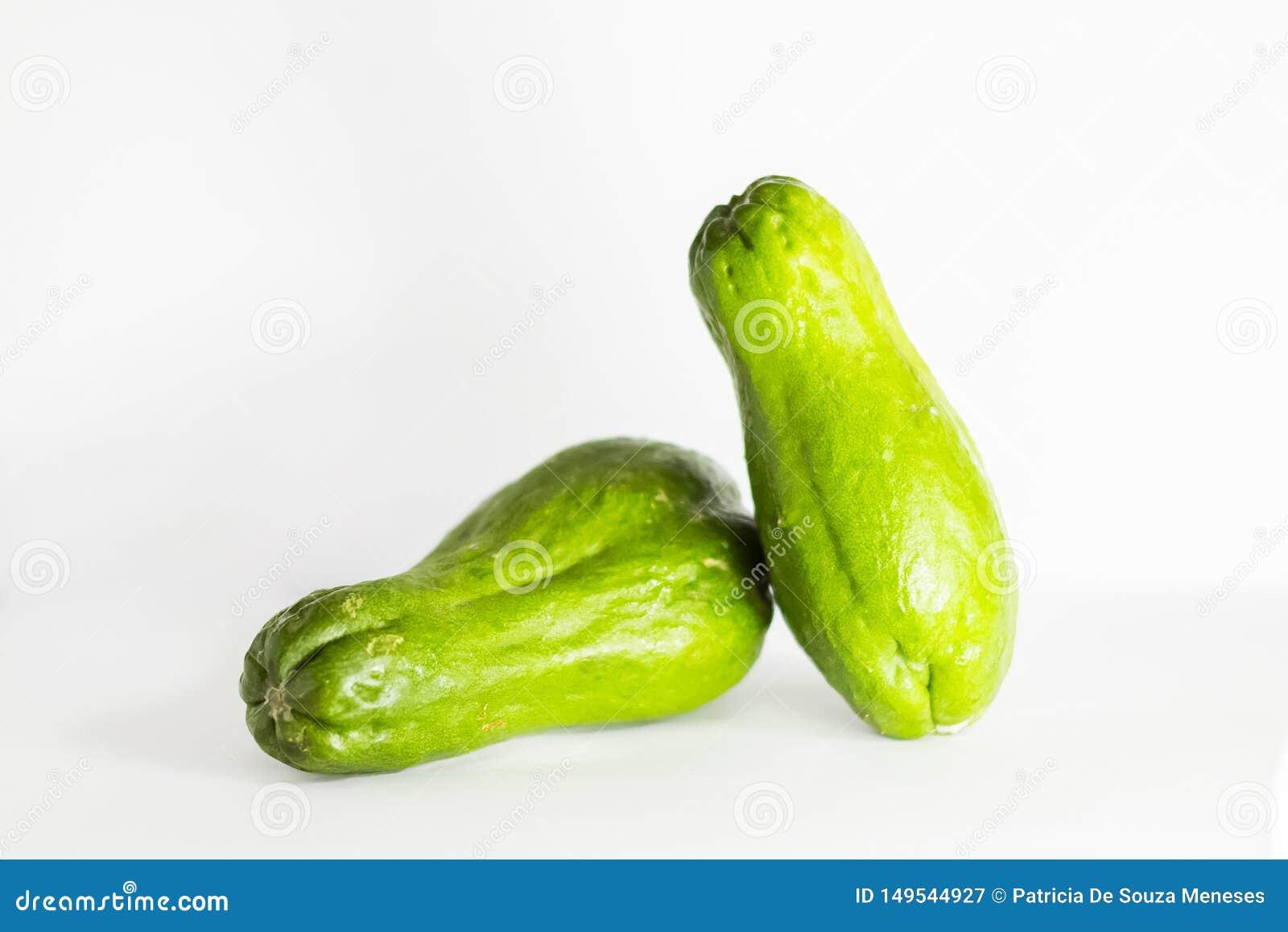 Zielony chuchu warzywa zieleni kolczoch
