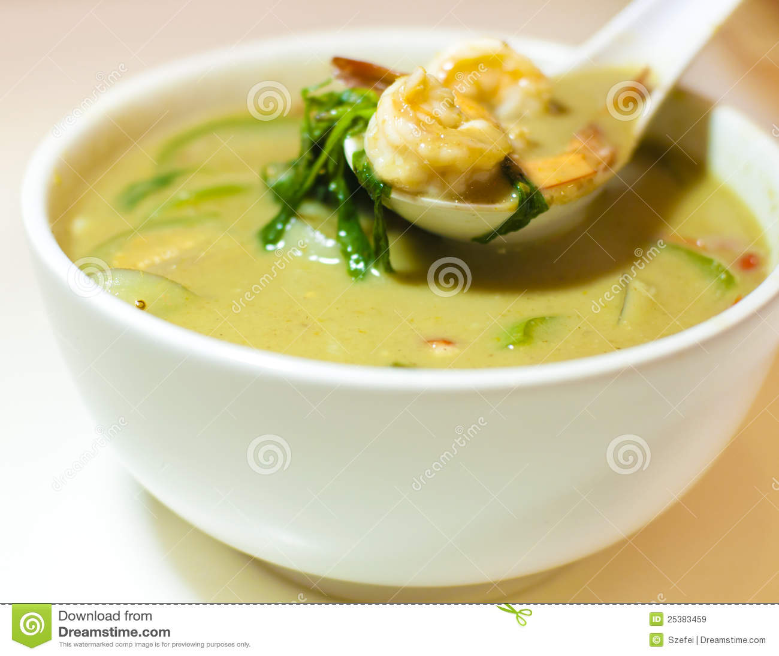 Zielony curry