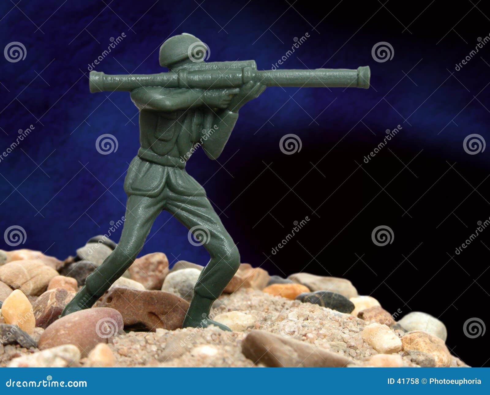 Zielony człowiek armia zabawka